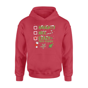 GearUnique Crazy Math Teacher Santa Hat Funny Christmas Tee - Standard Hoodie