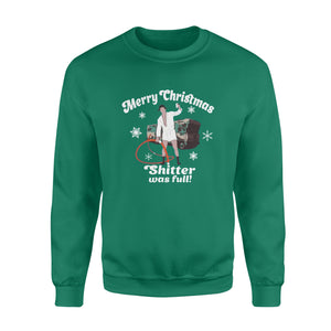 GearUnique Merry Christmas Vacation Funny Movies Shitter Was Full 1 - Standard Fleece Sweatshirt