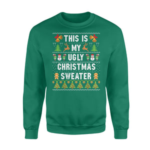 GearUnique This Is My Ugly Christmas Sweater Gift Standard Fleece Sweatshirt