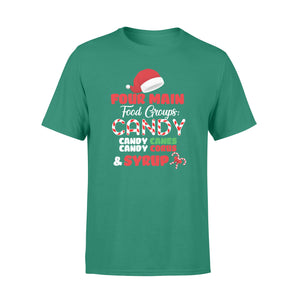 GearUnique Four Main Food Groups Elf Buddy Christmas Pajama Standard T-shirt