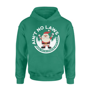 GearUnique Funny Christmas Gift Ain't No Laws When You'reDrinking With Claus Claws Santa Beer Standard Hoodie