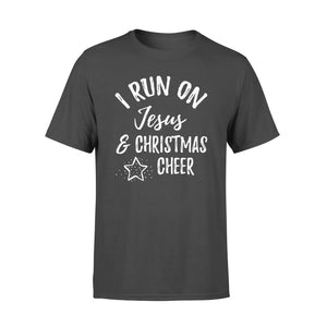 GearUnique I Run On Jesus And Christmas Cheer Christian Gift Tee - Standard T-shirt