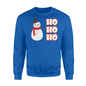 GearUnique Ho Ho Ho Frosty Cold Snowman Christmas T-shirt - Standard Fleece Sweatshirt