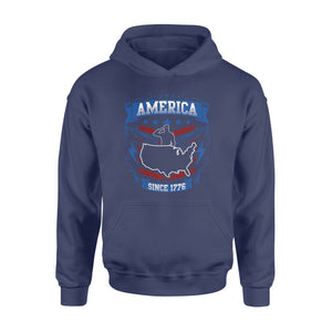 GearUnique America Flag Since 1776 Veteran I Paid For It Us Veteran - Standard Hoodie
