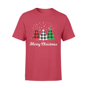 GearUnique Funny Merry Christmas Buffalo Plaid Christmas Gift Standard T-shirt