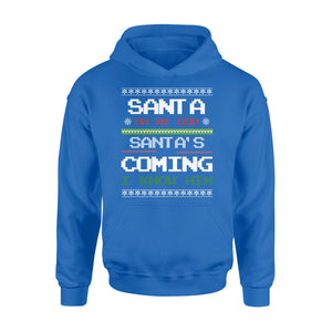 GearUnique Oh My God Santa's Coming I Know Him Funny Christmas Shirt - Standard Hoodie