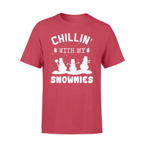 GearUnique Chillin With My Snowmies Christmas Shirts - Funny Snow Man - Standard T-shirt