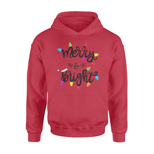 GearUnique Merry And Bright Christmas Gift In Christmas Light Standard Hoodie