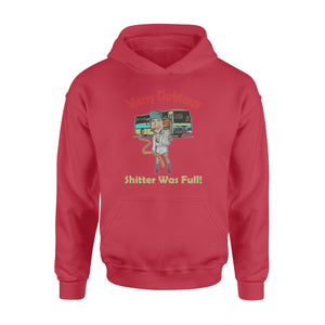 GearUnique Merry Christmas Vacation Funny Movies Shitter Was Full - Standard Hoodie