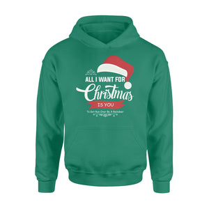 GearUnique All I Want For Christmas Is You Santa Hat - Standard Hoodie