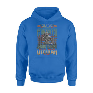 GearUnique Only Two Die For You Christ And The Us Veteran - Standard Hoodie