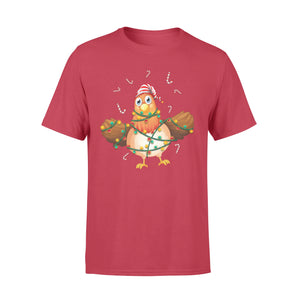 GearUnique Chicken Christmas Light Shirt - Chicken Lover - Standard T-shirt