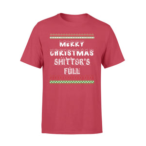 GearUnique Ugly Christmas Shirt - Merry Christmas Shitter's Full T-shirt - Great Vacation Tee - Standard T-shirt