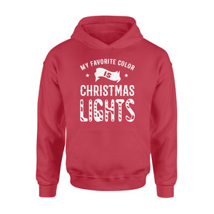 GearUnique My Favorite Color Is Christmas Lights Funny Christmas Shirt - Standard Hoodie