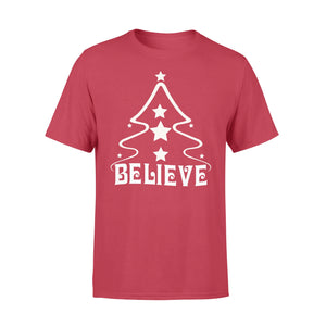 GearUnique Christmas Shirt Believe Tree Christmas Gift - Standard T-shirt