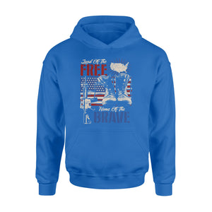 GearUnique Us Land Of The Free Home Of The Brave Veteran Army - Standard Hoodie