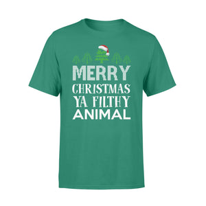 GearUnique Funny Christmas Gift Merry Christmas Ya Filthy Animal Standard T-shirt