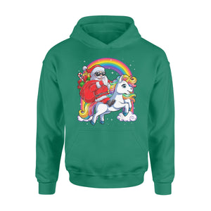 GearUnique Christmas Santa Ride Cute Unicorn Rainbow Standard Hoodie