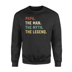 GearUnique Papa The Man The Myth The Legend Fathers' Day Family T-Shirt - Standard Fleece Sweatshirt