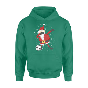 GearUnique Christmas Shirts For Girl Dabbing Santa Soccer - Standard Hoodie