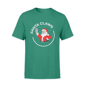 GearUnique Funny Drinking Beer Santa Claws Christmas Standard T-shirt