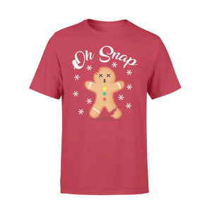 GearUnique Oh Snap Gingerbread Man Funny Christmas T-shirt - Standard T-shirt