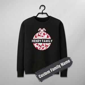 Custom Funny Family Christmas Sweater - Christmas Ball Style