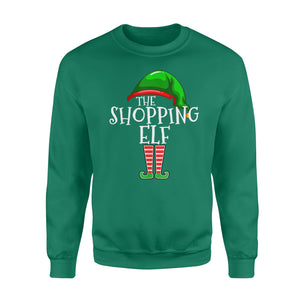 GearUnique Funny Christmas Gift The Shopping Elf Standard Fleece Sweatshirt