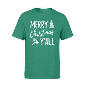GearUnique Funny Christmas T-shirt Merry Christmas Y'all Xmas Tee - Standard T-shirt