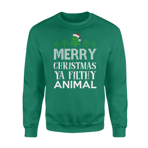 GearUnique Funny Christmas Gift Merry Christmas Ya Filthy Animal Standard Fleece Sweatshirt