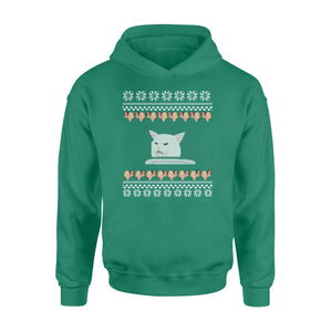 GearUnique Funny Ugly Christmas Woman Yelling At A Cat Meme Standard Hoodie