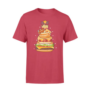 GearUnique Fast Food Christmas Tree T-Shirt Funny Xmas Pajama Tee Gift - Standard T-shirt