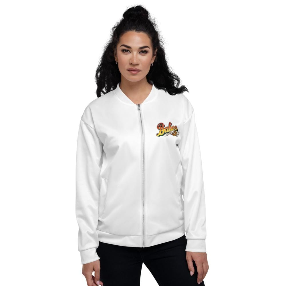 Front Bomber Jacket with Babes Logo