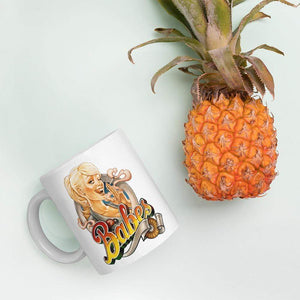 Babes Papes Mug with pin-up illustration by Franke Art