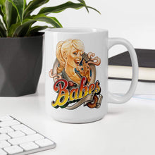 Load image into Gallery viewer, Babes Papes Mug with pin-up illustration by Franke Art