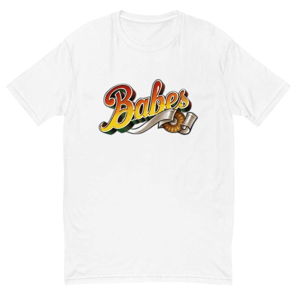 Short Sleeve T-shirt for Men with Babes  Logo in White