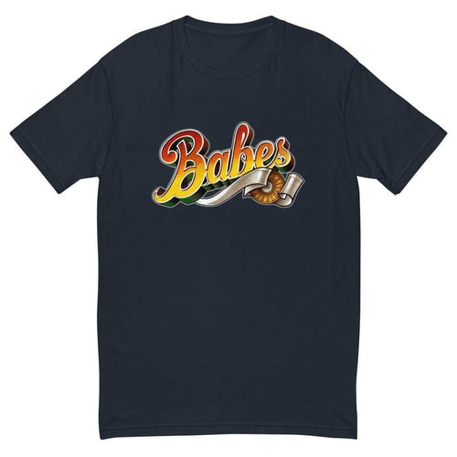 Short Sleeve T-shirt for Men with Babes  Logo in Navy Blue