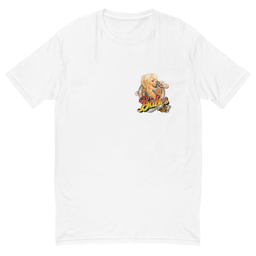 Short Sleeve T-shirt for Men with Babes Papes Small in White