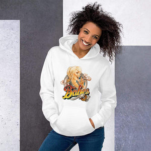 Babes Papes Graphic Hoodie in White