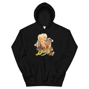 Babes Papes Graphic Hoodie in Black
