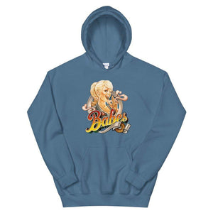 Babes Papes Graphic Hoodie in Light Blue