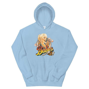 Babes Papes Graphic Hoodie in Baby Blue