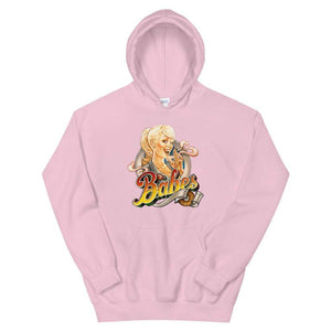 Babes Papes Graphic Hoodie in Pink