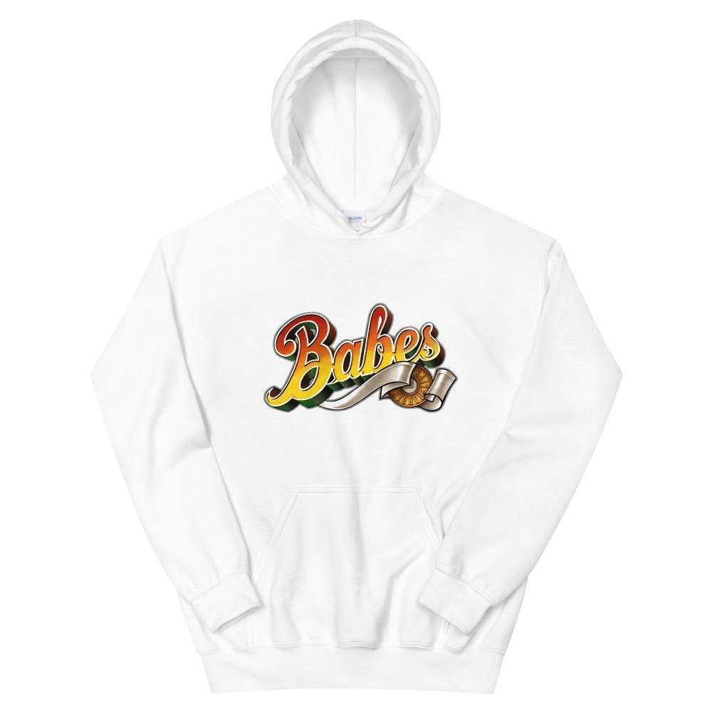 Babes Papes Hoodie White / S Babes Papes® Unisex Hoodie with Babes logo on the front (multi color)