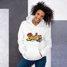 Load image into Gallery viewer,  Graphic Hoodie in White with Babes Front Logo