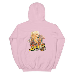 Babes Papes® Unisex Hoodie with logo on the back and front side (multi color) - Babes Papes