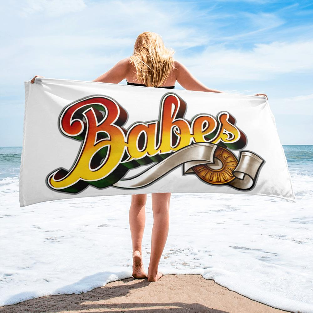 Babes Papes Oversized Versatile Towel in White