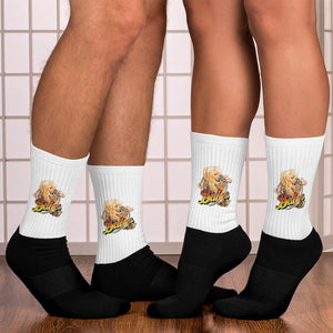 Dual Color Socks with Babes Papes® Logo