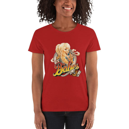 Women's 100% cotton short sleeve t-shirt (multi-color) - Babes Papes®
