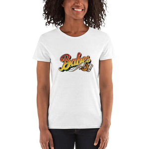 Babes Women's 100% cotton short sleeve t-shirt (multi-colour)